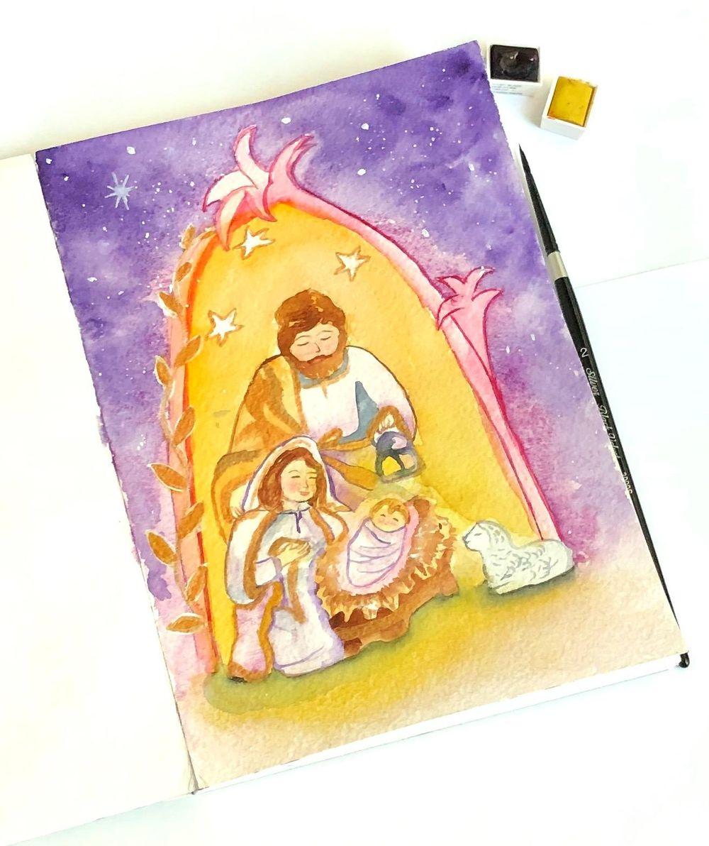 Nativity illustration - image 1 - student project
