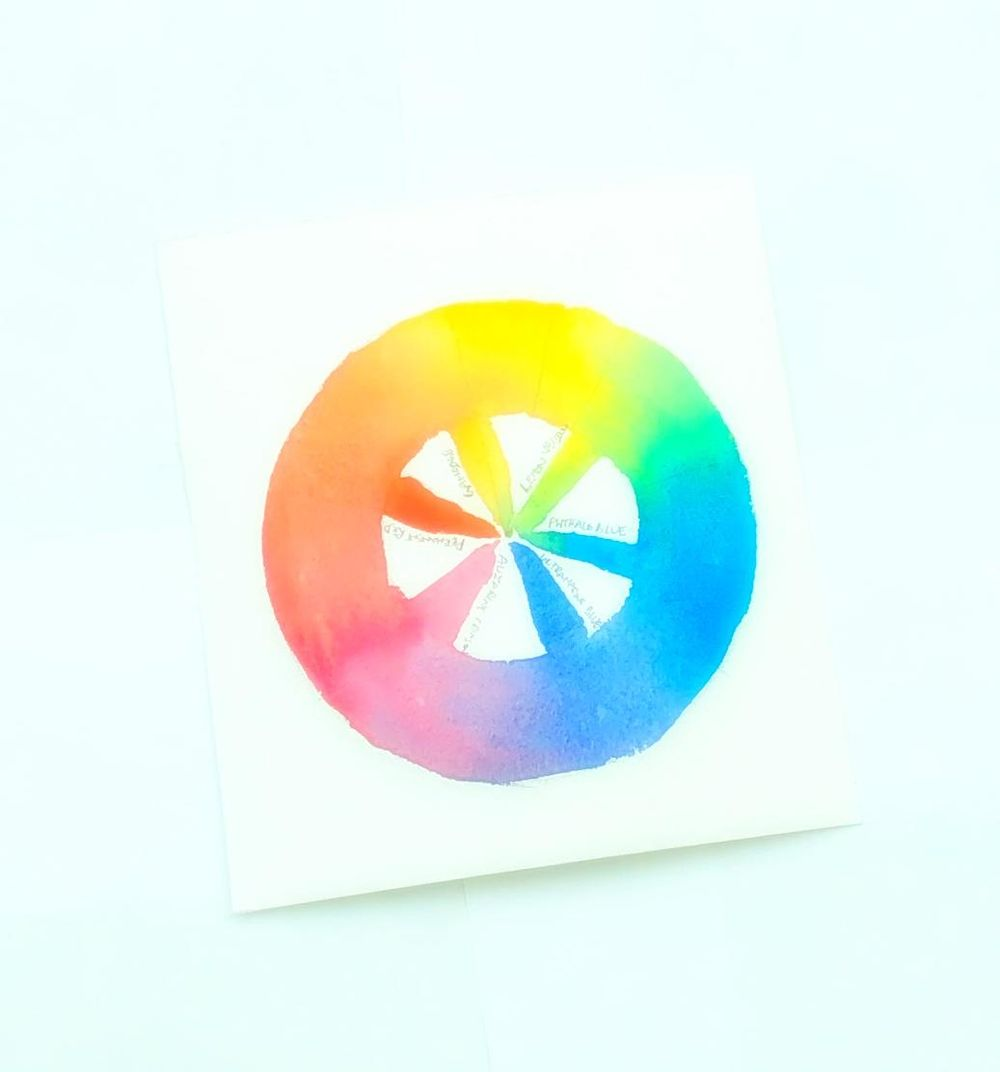 Quickie color wheel - image 1 - student project