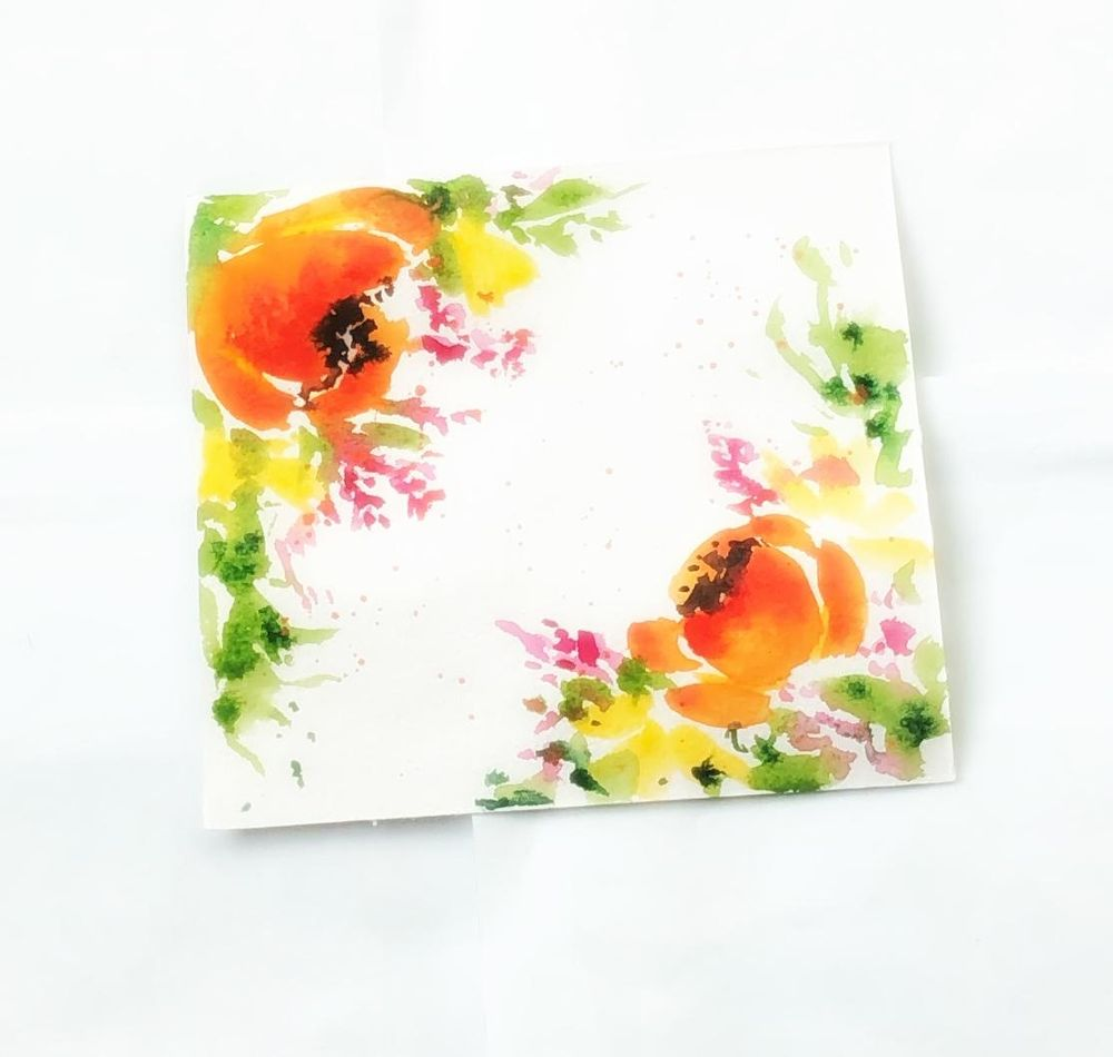 Watercolor blooming borders - image 1 - student project
