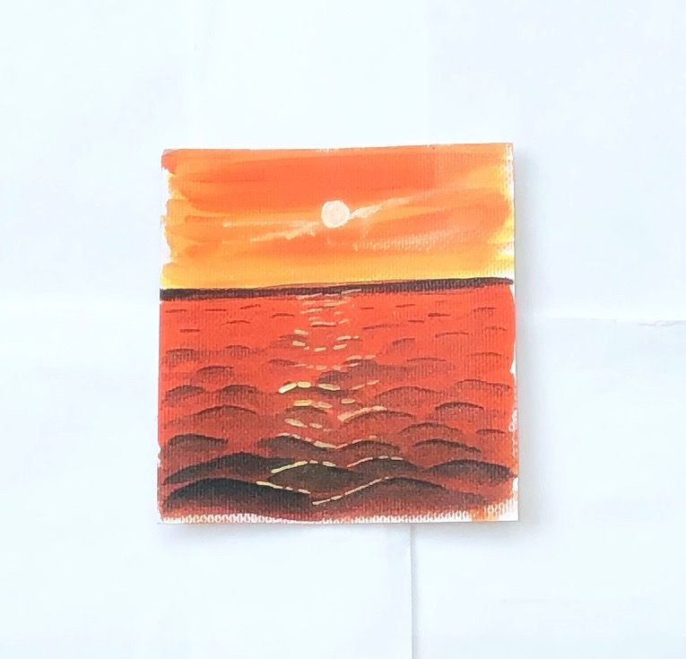 Acrylic sunset painting - image 1 - student project