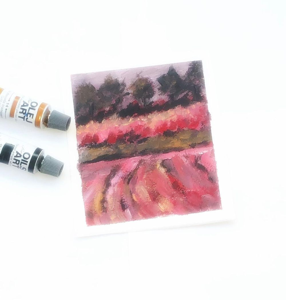 Impressionist landscape- rhythm and movement - image 1 - student project