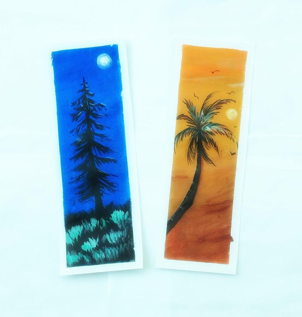 Acrylic painting-Bookmarks - image 1 - student project