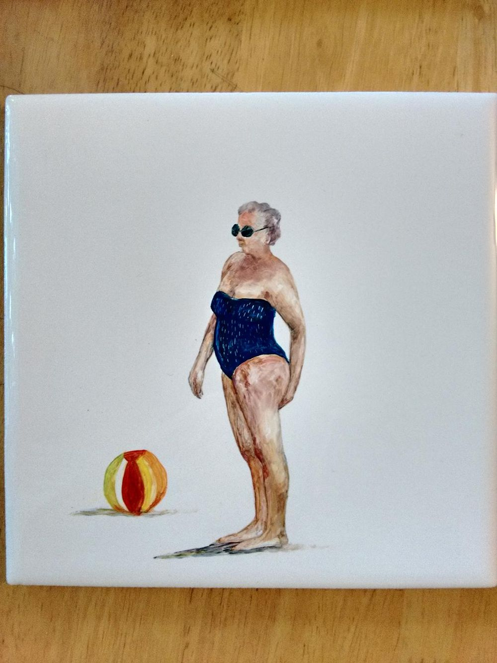 Lady with a beach ball - image 2 - student project