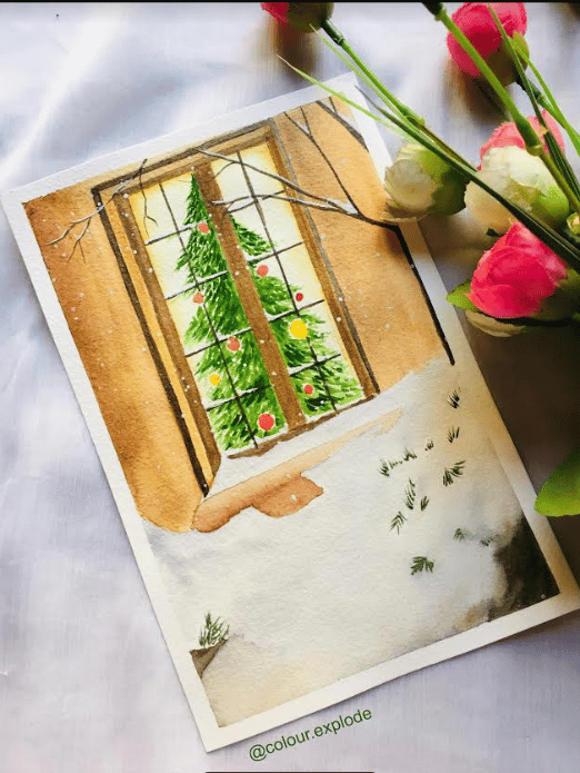 countdown to christmas with watercolours - image 5 - student project