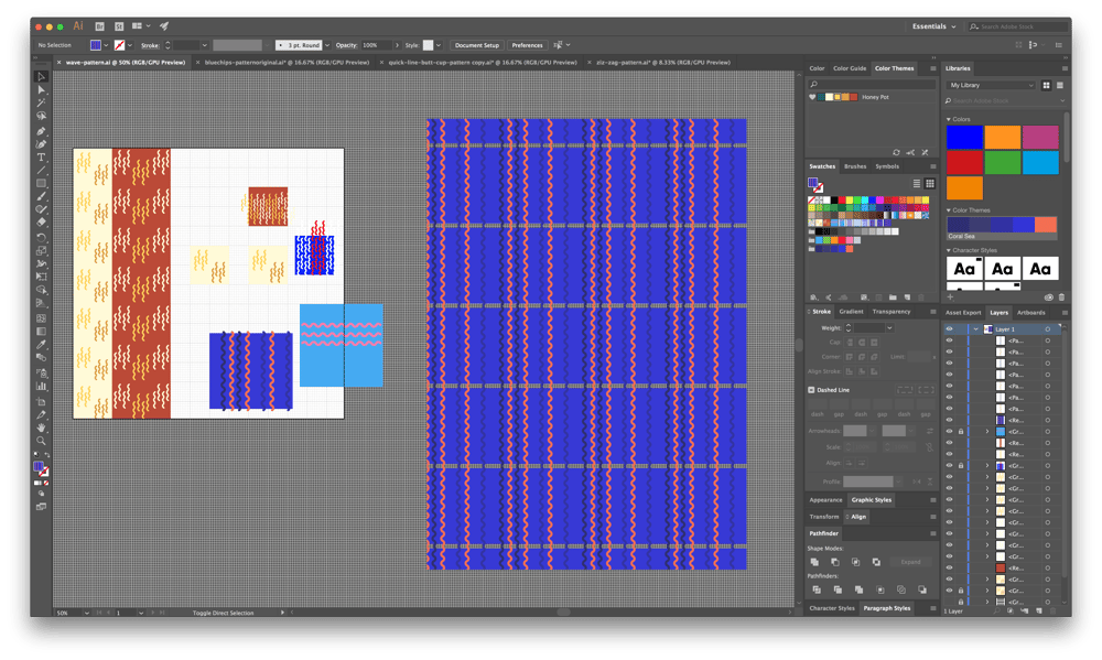 Creating Trendy Abstract Patterns in Illustrator - image 9 - student project