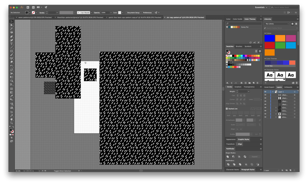Creating Trendy Abstract Patterns in Illustrator - image 6 - student project