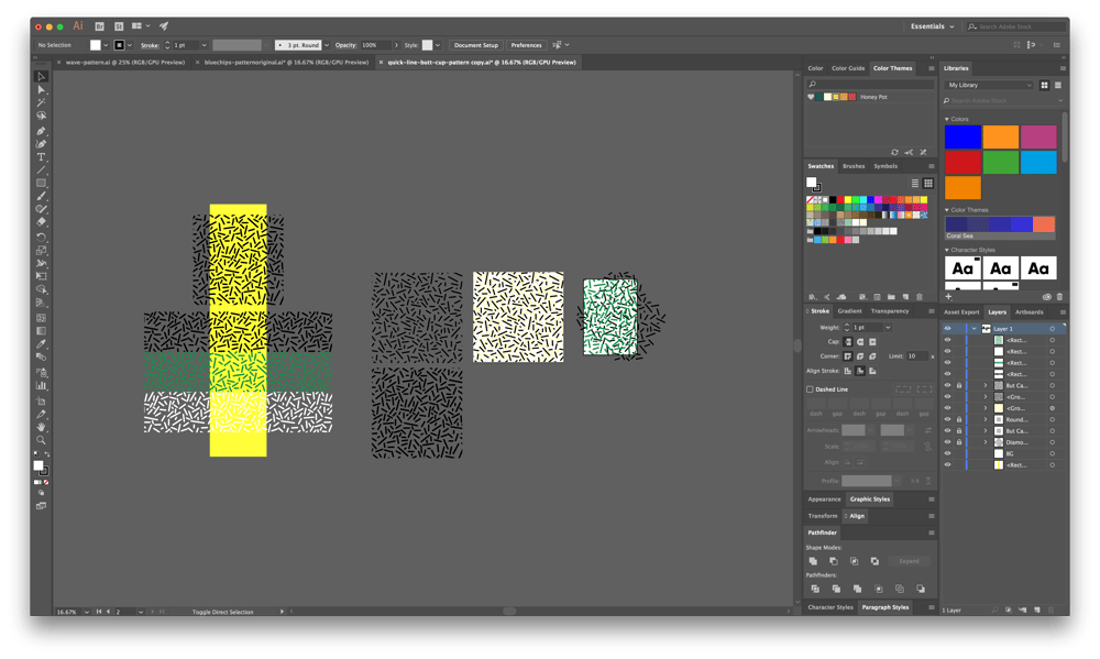 Creating Trendy Abstract Patterns in Illustrator - image 1 - student project