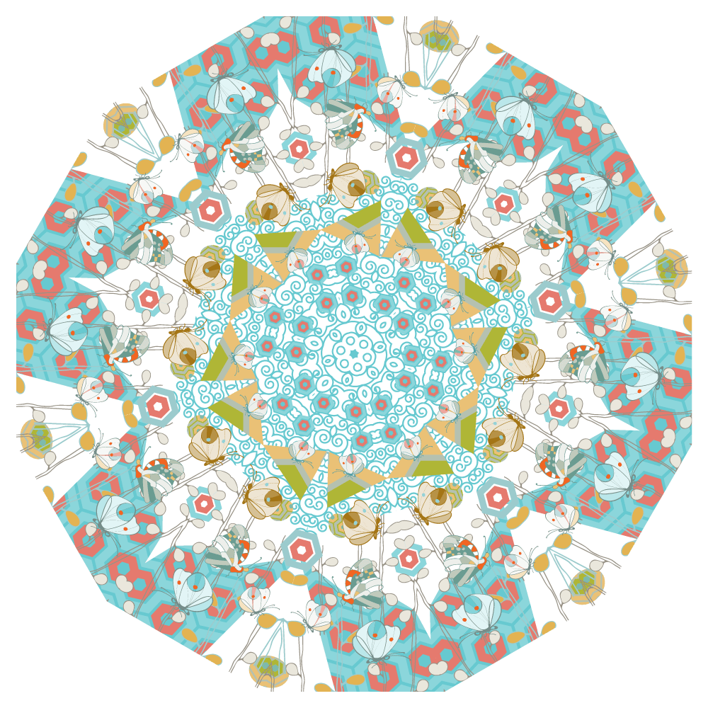 Flight of Fancy Mandala - image 2 - student project