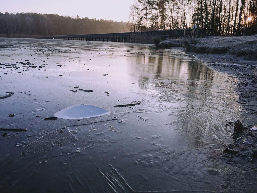 frozen lake at sunrise - image 3 - student project