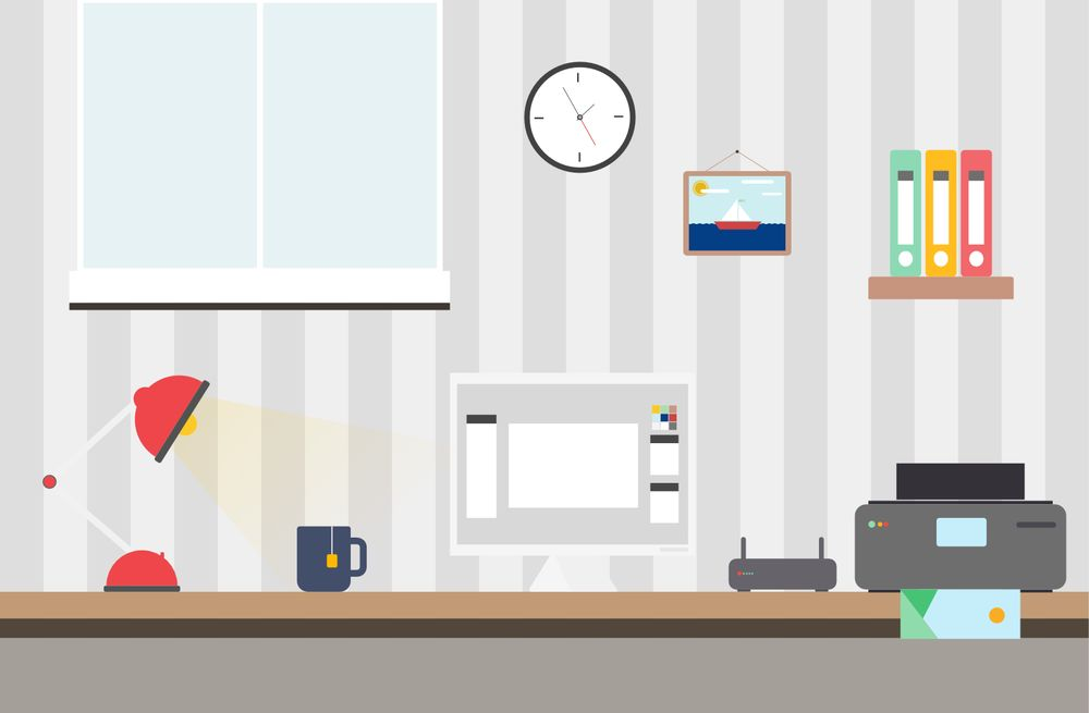 Flat Design Home Office - image 2 - student project