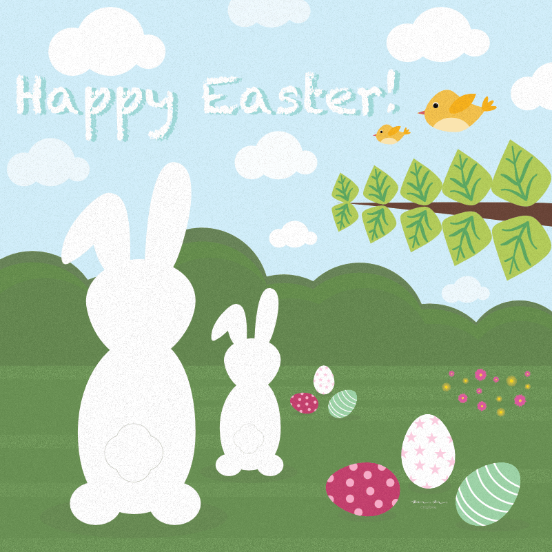 Easter card - image 2 - student project