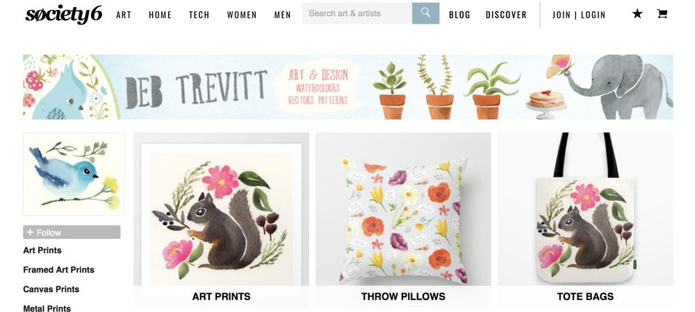 Redbubble and Society6 Online Shops–Refresh - image 1 - student project