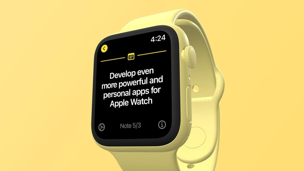 I created a note-taking app with SwiftUI for Apple Watch - image 2 - student project