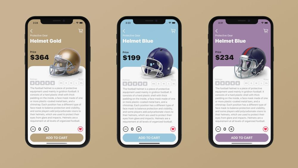 I created Touchdown, an e-commerce mobile application with SwiftUI - image 1 - student project