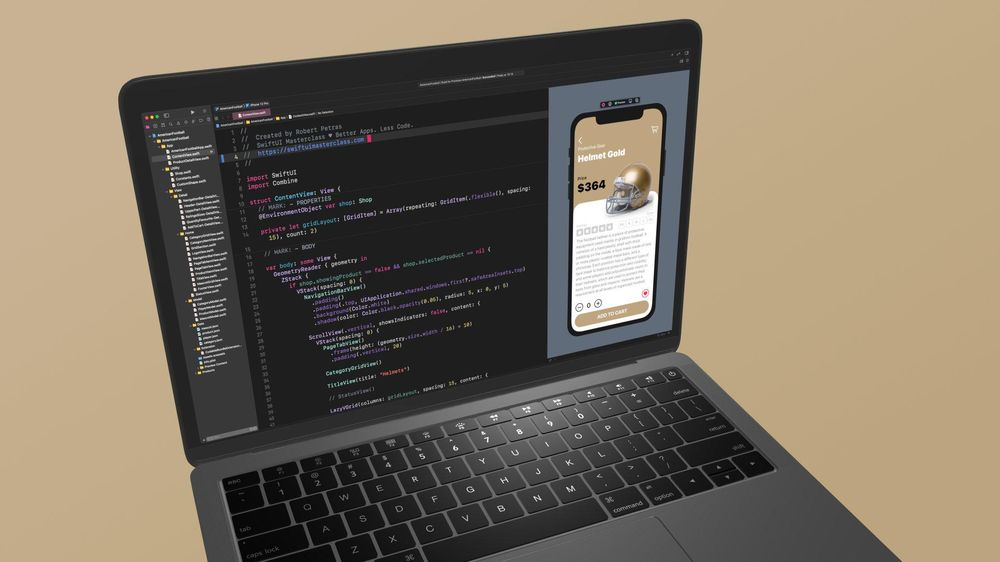 I created Touchdown, an e-commerce mobile application with SwiftUI - image 3 - student project
