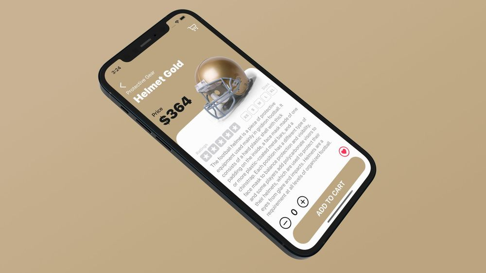 I created Touchdown, an e-commerce mobile application with SwiftUI - image 4 - student project