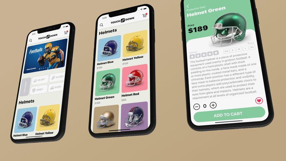 I created Touchdown, an e-commerce mobile application with SwiftUI - image 2 - student project