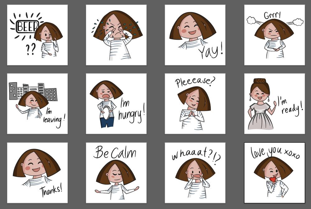 Emoji Stickers - image 1 - student project