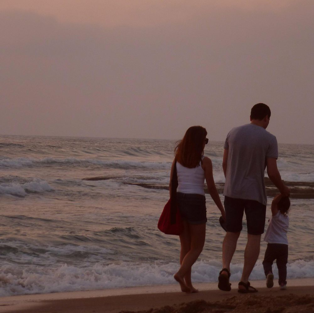 Sunset in Tel Aviv: As the sun sets, it's time for reflection on thoughts, fun with friends and one more nice walk with family. Live it!! - image 5 - student project