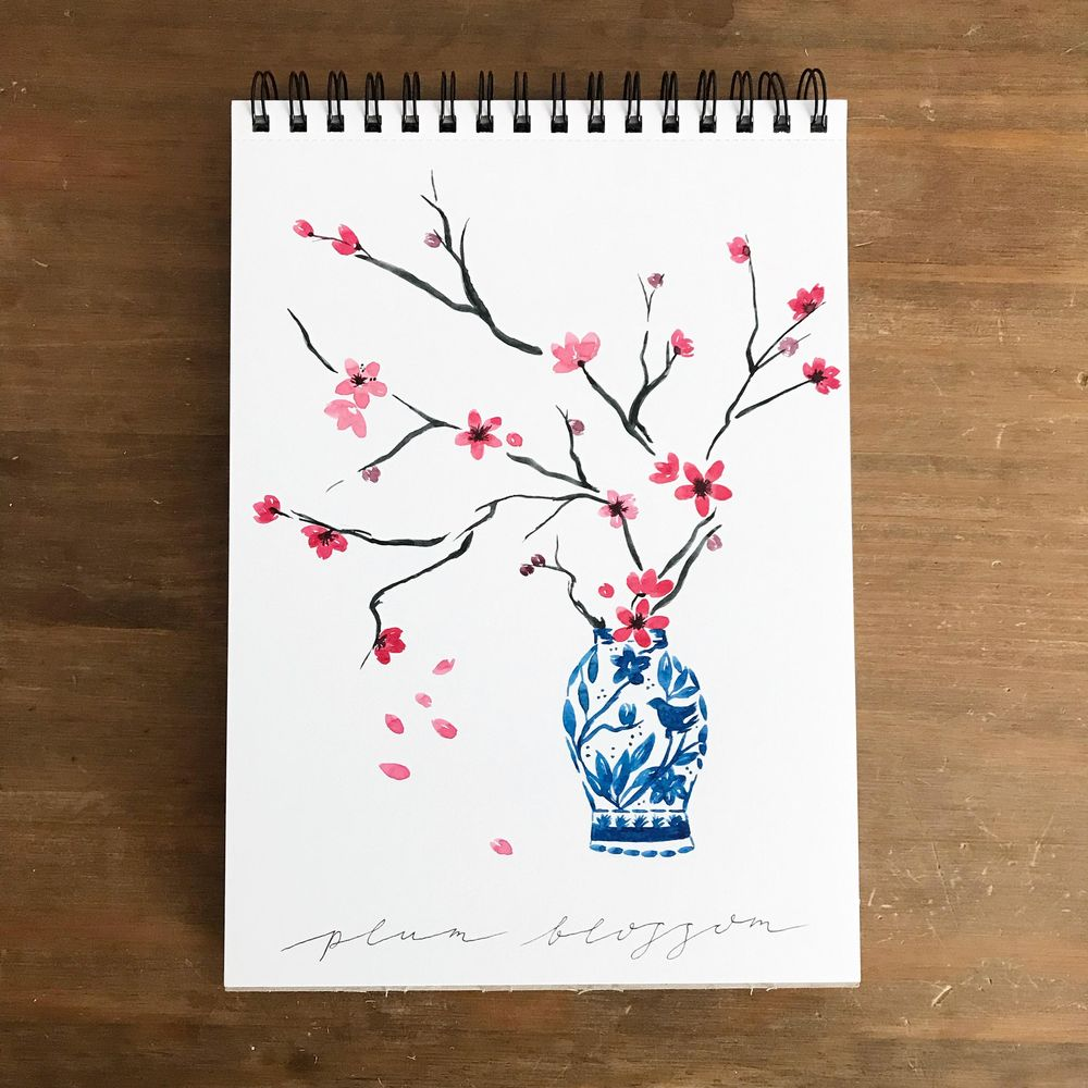 Spring blossom, 3 ways - image 2 - student project