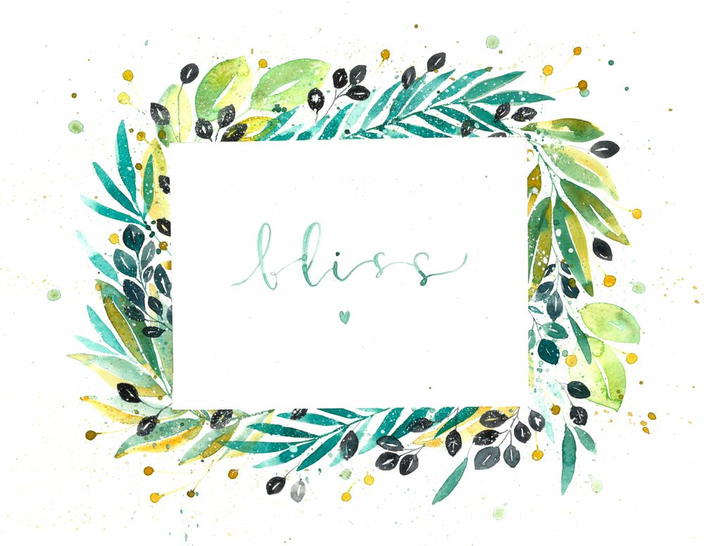 Loose Watercolor Botanical Frame - image 1 - student project