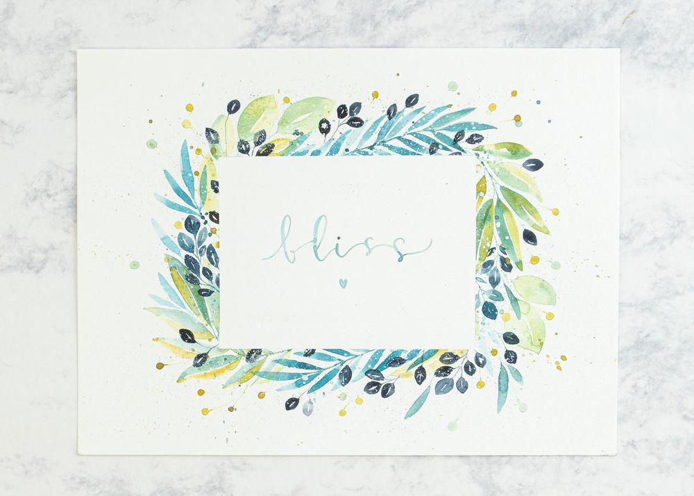 Loose Watercolor Botanical Frame - image 3 - student project