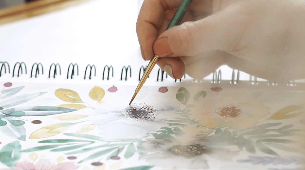 Loose Watercolor Florals - image 4 - student project