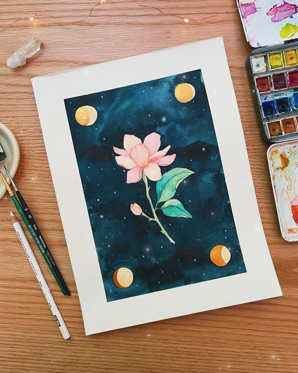Sample Project: Dark watercolor backgrounds - image 2 - student project