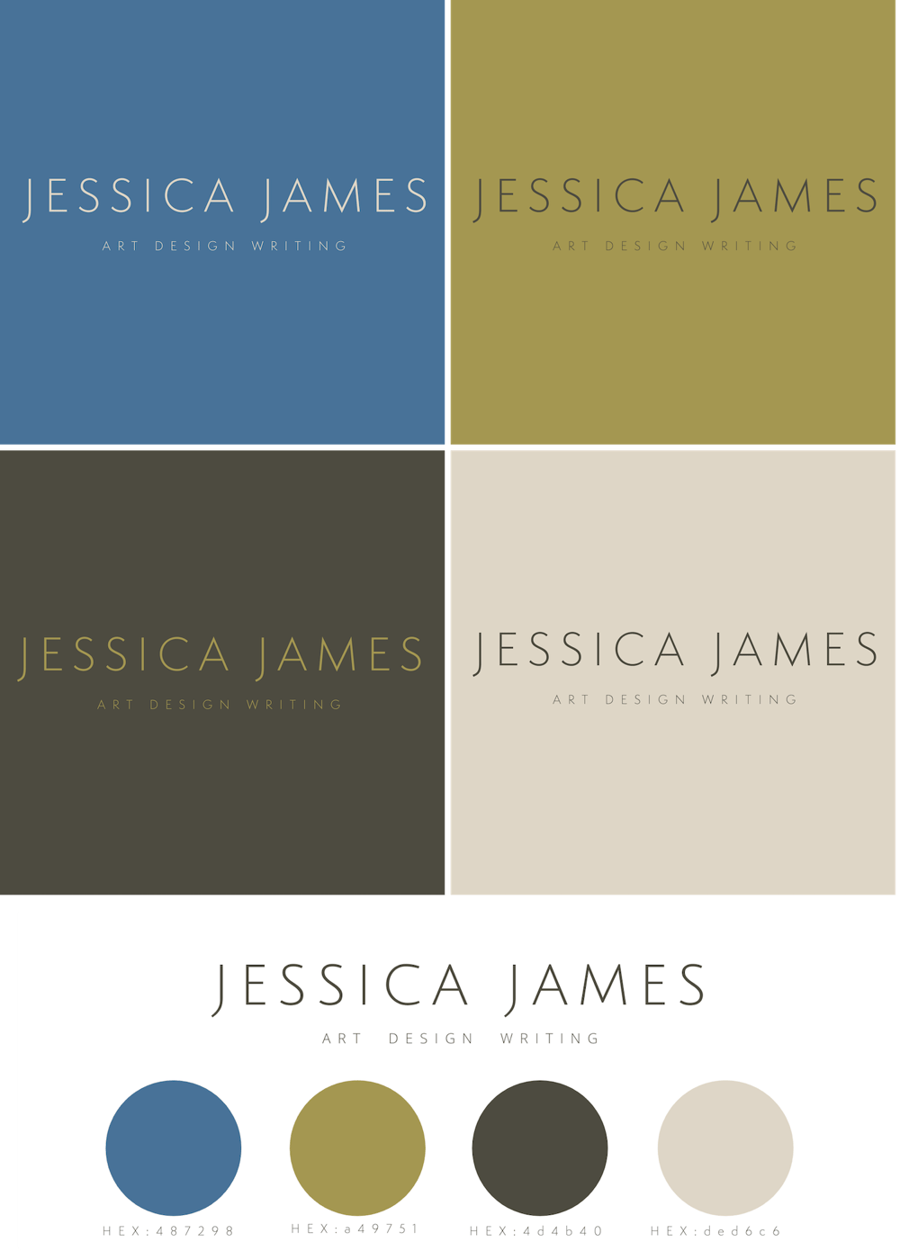 Jessica James - Personal Rebranding - image 1 - student project
