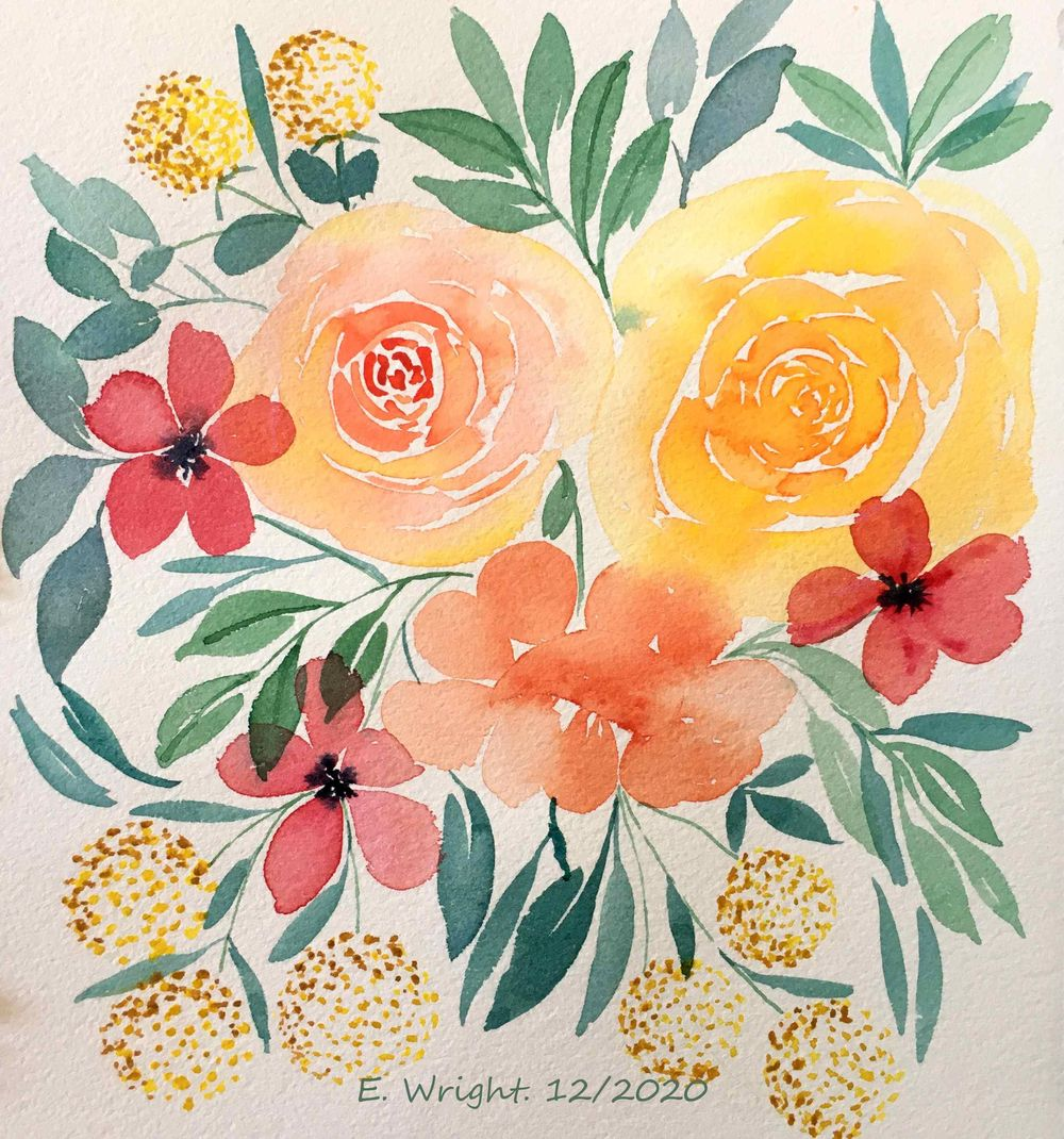 Loose Floral Watercolour projects - image 2 - student project