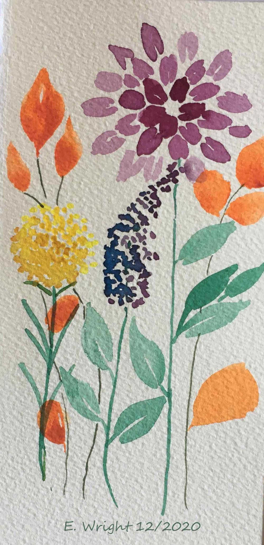 Loose Floral Watercolour projects - image 1 - student project