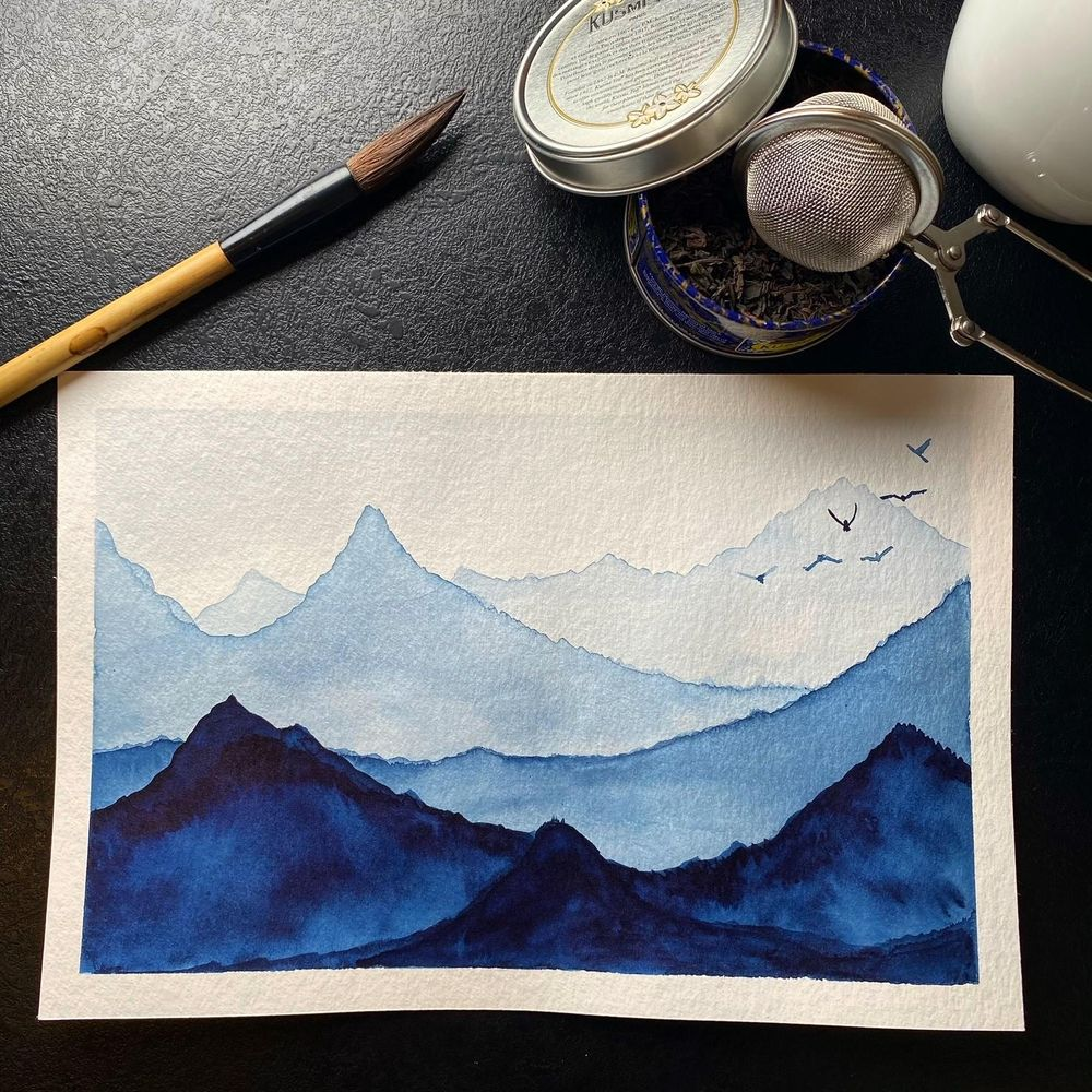 Snowy mountains - image 1 - student project