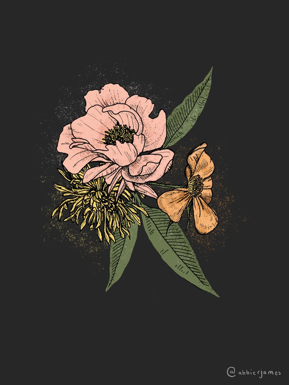 Floral Illustration in Photoshop - image 2 - student project