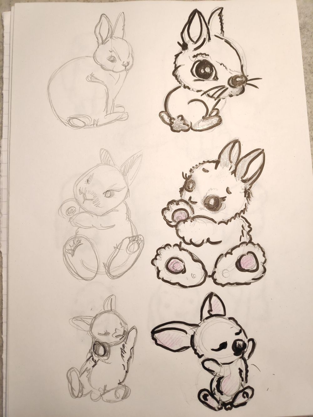 Stylized bunnies - image 1 - student project