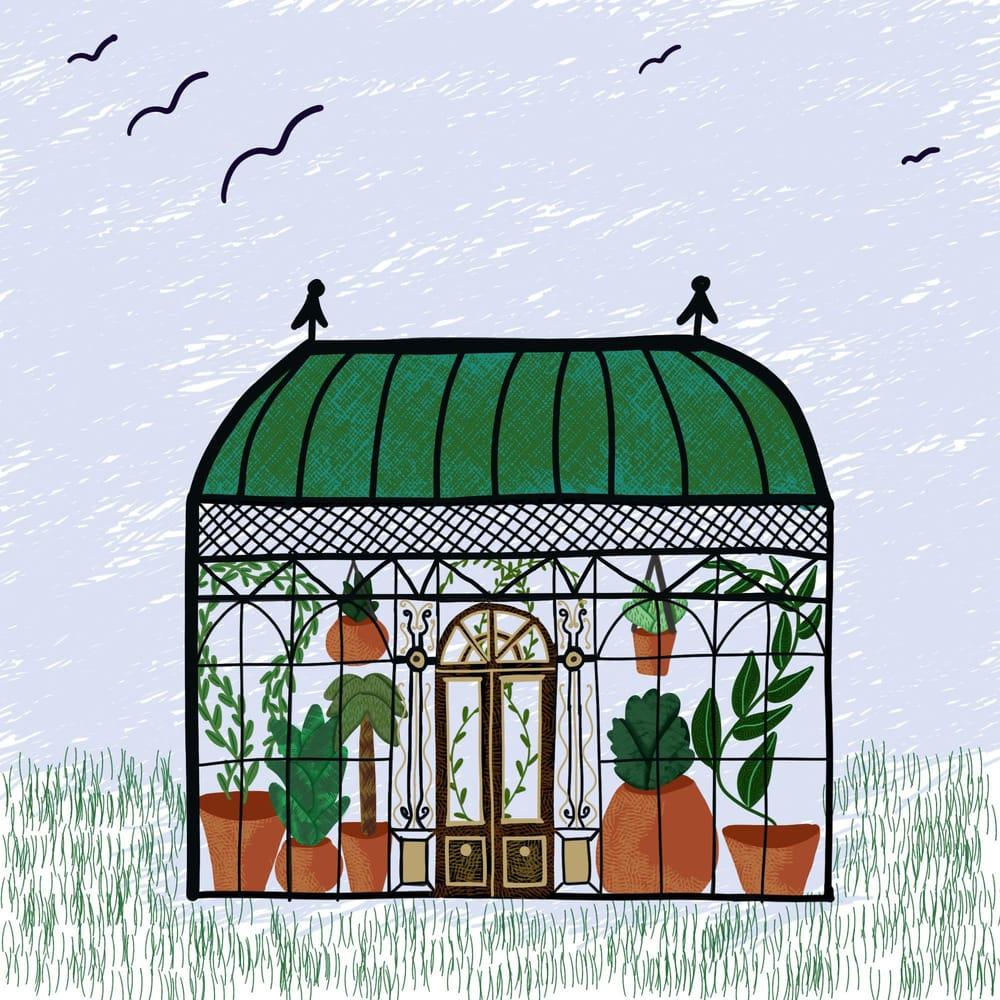 Greenhouse illustration - image 1 - student project