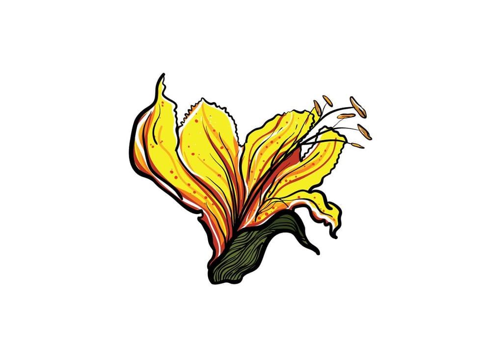 flower illustration - image 2 - student project