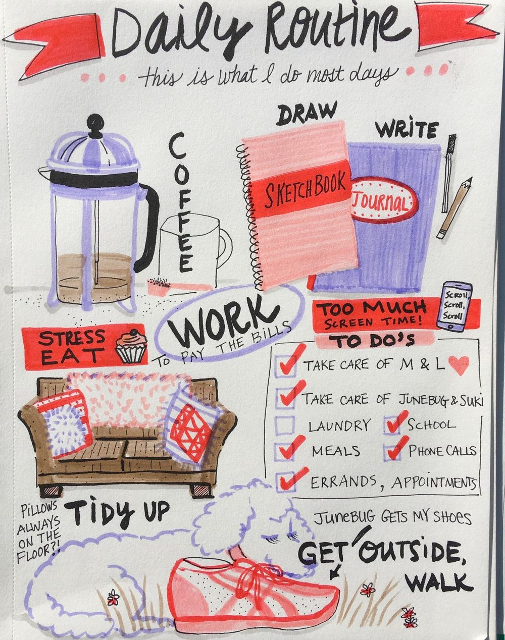 Illustrated Journaling: 14 Days of Prompts - image 6 - student project