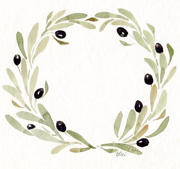 Watercolor Wreaths - image 2 - student project
