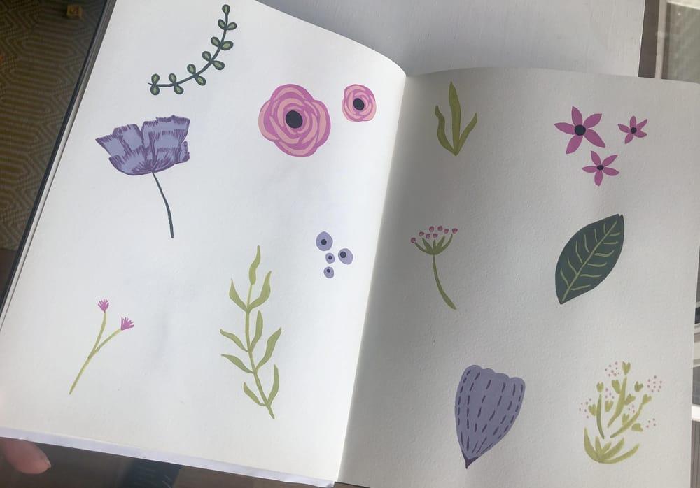 Gouache florals - image 3 - student project
