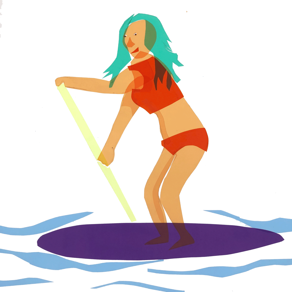 Stand-up Paddleboarder - image 1 - student project