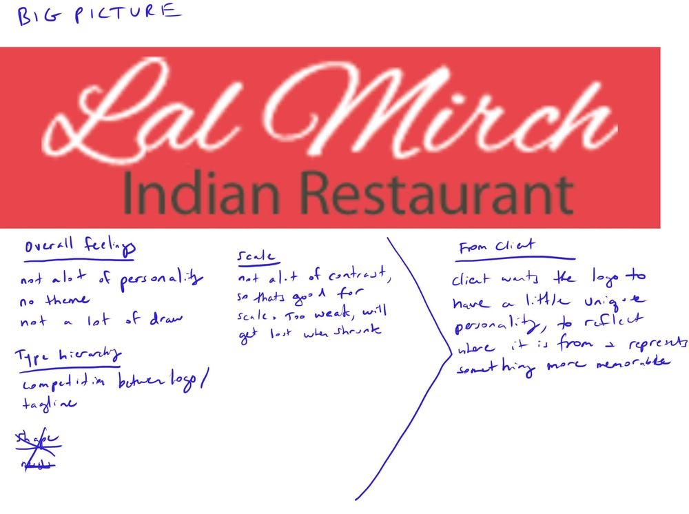 Learning Letterforms - Lal Mirch Indian Restaurant - image 2 - student project