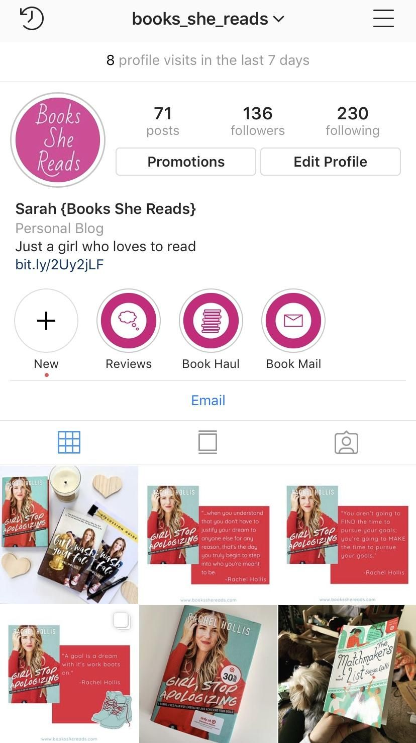 Books_She_Reads Instagram - image 1 - student project