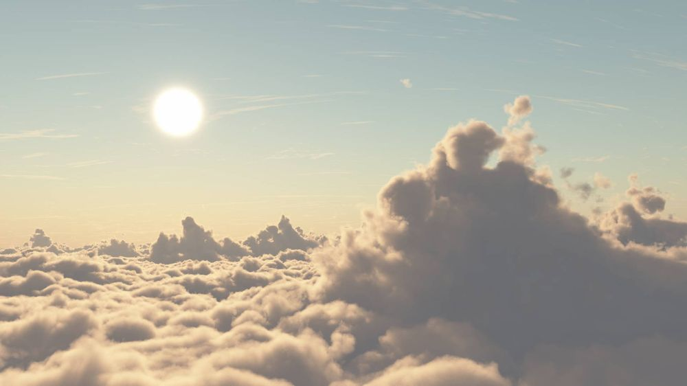 Sunset above the clouds - image 1 - student project