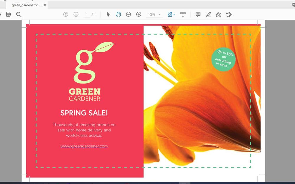 AZ's Green Gardener flyer - image 1 - student project
