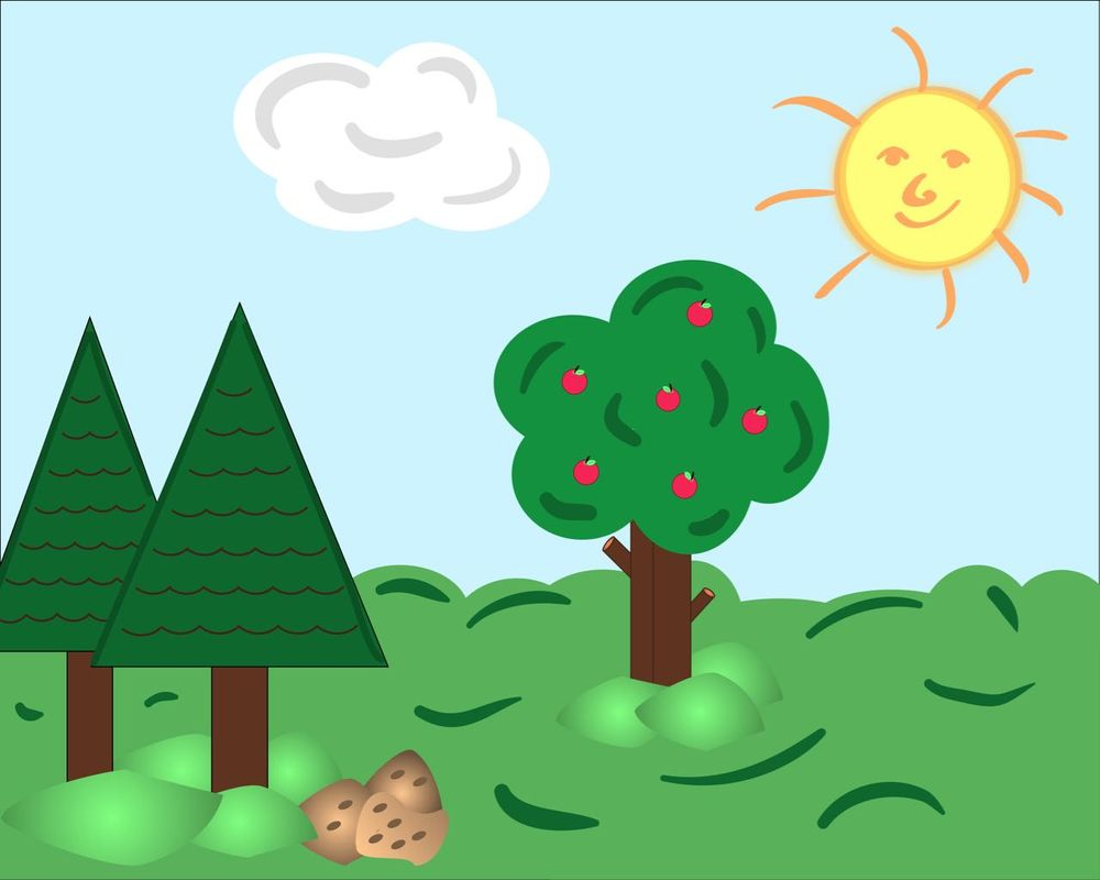 A simple Landscape - image 1 - student project
