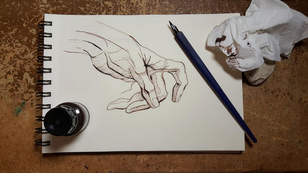 Ink hands - image 1 - student project