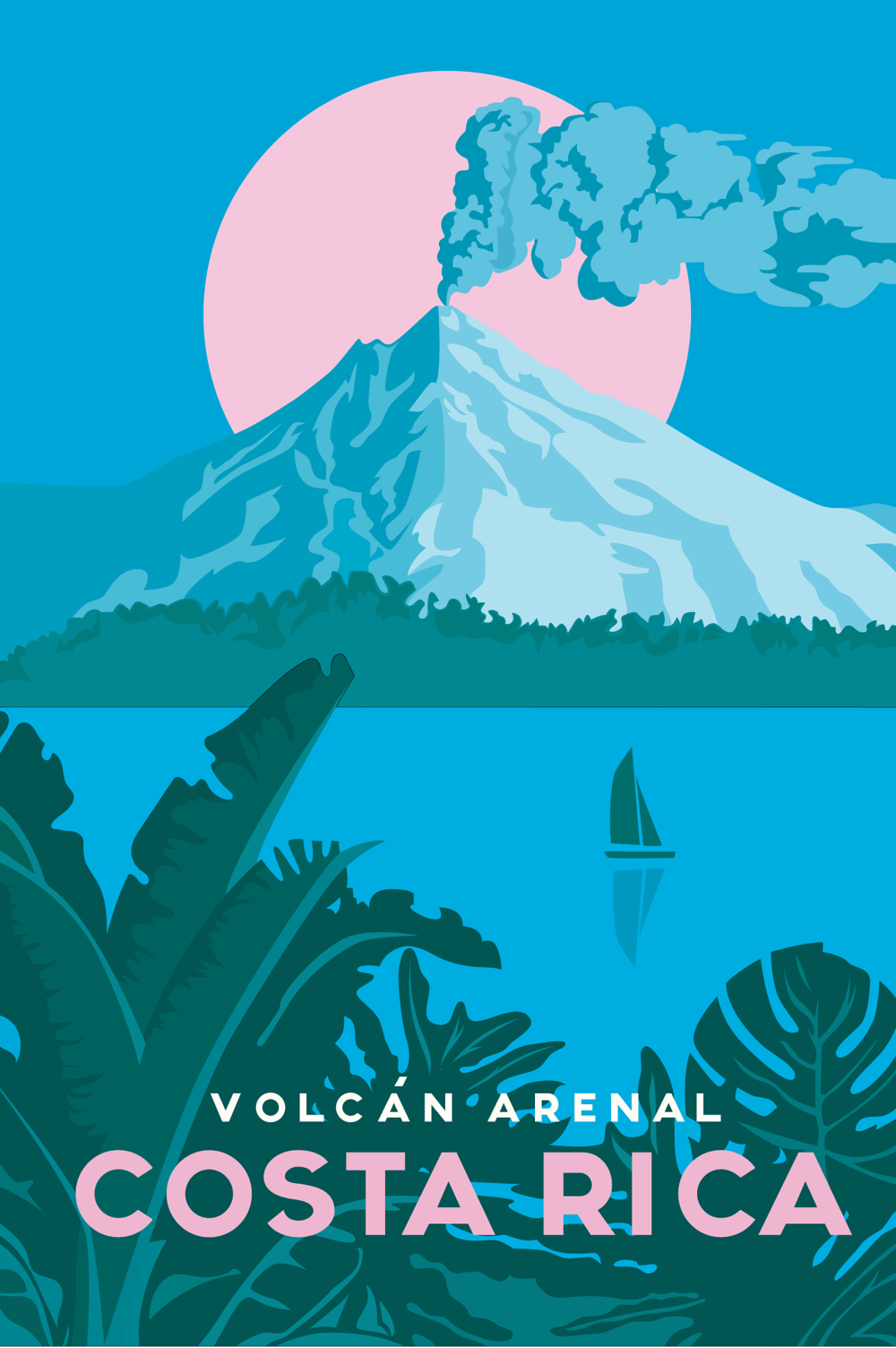 Missy Ames' Costa Rica Travel Poster - image 2 - student project