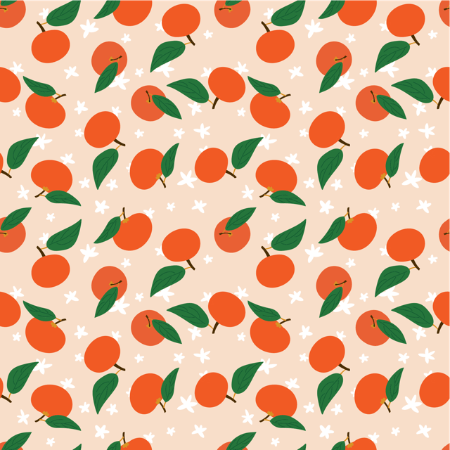 Mandarins Pattern on Ipad - image 1 - student project