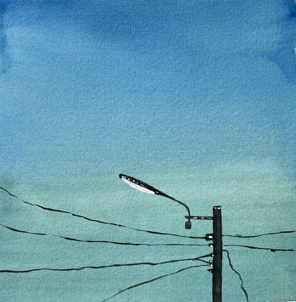 30 Day Watercolor Skies Challenge - image 15 - student project