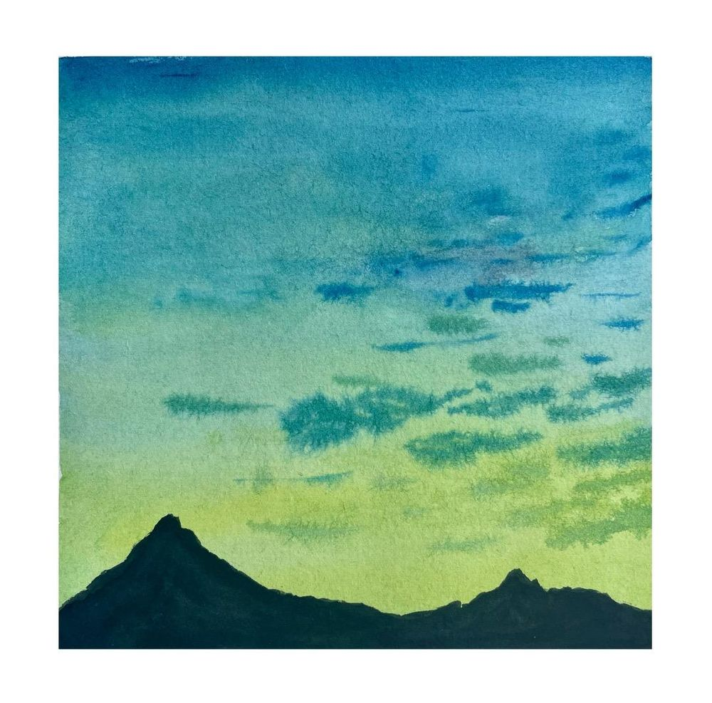 30 Day Watercolor Skies Challenge - image 8 - student project